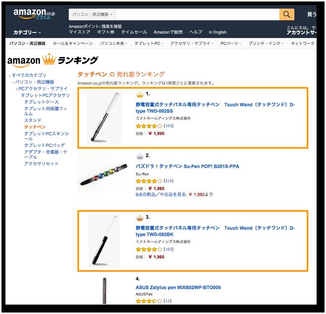 Amazon.co.jpの売れ筋ランキングで1位になりました
